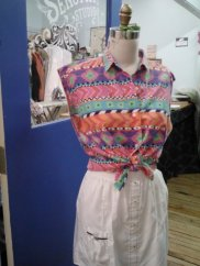 Southwest shirt, restyled skirt